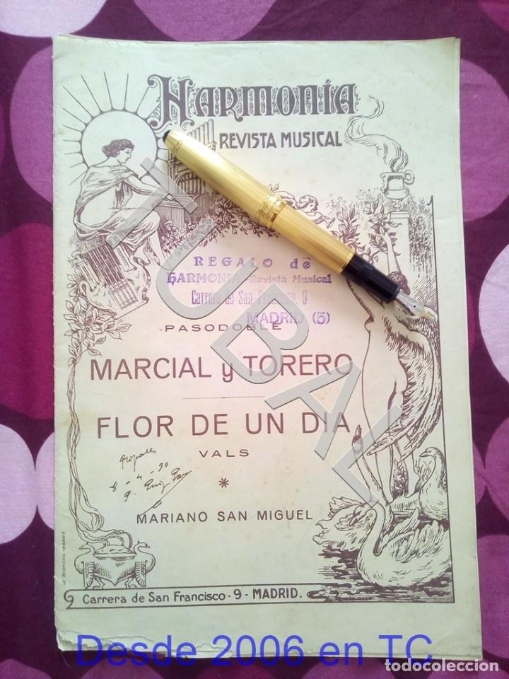 TUBAL MARCIAL Y TORERO MARIANO SAN MIGUEL PARTITURA ANTIGUA PAODOBLE 1931 P1 (Música - Partituras Musicales Antiguas)