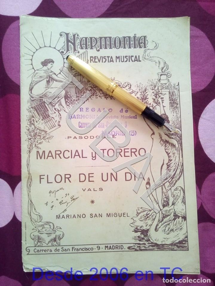 Partituras musicales: TUBAL MARCIAL Y TORERO MARIANO SAN MIGUEL PARTITURA ANTIGUA PAODOBLE 1931 P1 - Foto 2 - 178708193