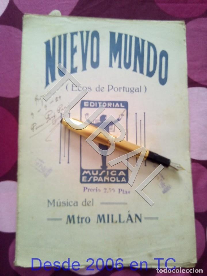 TUBAL NUEVO MUNDO MAESTRO MILLAN PARTITURA ANTIGUA 1929 P1 (Música - Partituras Musicales Antiguas)