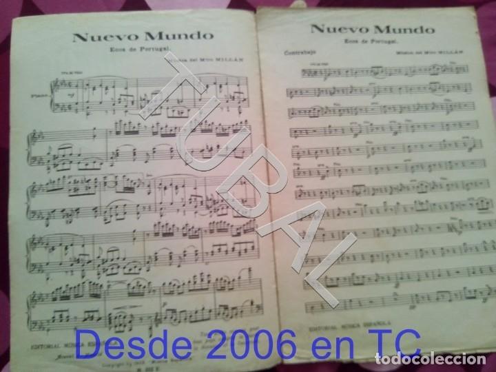 Partituras musicales: TUBAL NUEVO MUNDO MAESTRO MILLAN PARTITURA ANTIGUA 1929 P1 - Foto 3 - 178709402