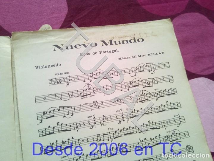 Partituras musicales: TUBAL NUEVO MUNDO MAESTRO MILLAN PARTITURA ANTIGUA 1929 P1 - Foto 4 - 178709402