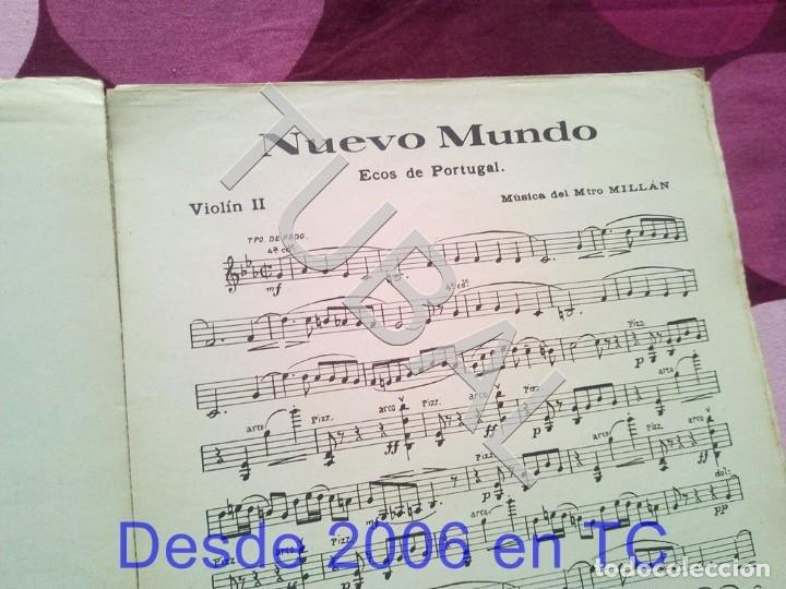 Partituras musicales: TUBAL NUEVO MUNDO MAESTRO MILLAN PARTITURA ANTIGUA 1929 P1 - Foto 5 - 178709402
