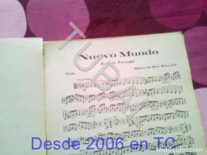 Partituras musicales: TUBAL NUEVO MUNDO MAESTRO MILLAN PARTITURA ANTIGUA 1929 P1 - Foto 6 - 178709402