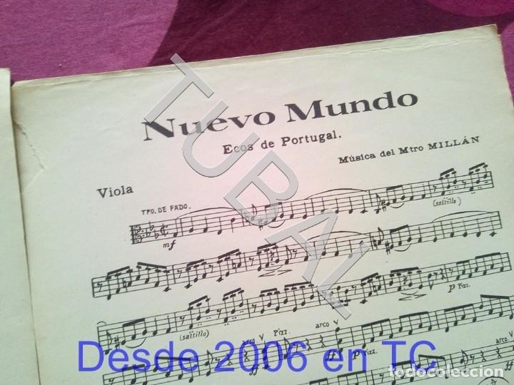 Partituras musicales: TUBAL NUEVO MUNDO MAESTRO MILLAN PARTITURA ANTIGUA 1929 P1 - Foto 7 - 178709402
