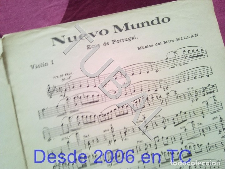 Partituras musicales: TUBAL NUEVO MUNDO MAESTRO MILLAN PARTITURA ANTIGUA 1929 P1 - Foto 8 - 178709402
