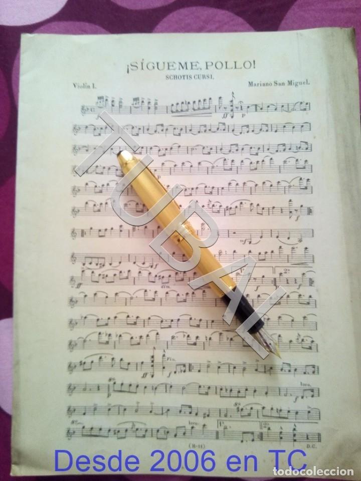 TUBAL SIGUEME POLLO MARIANO SAN MIGUEL PARTITURA ANTIGUA SCHOTIS CURSI CHOTIS P1 (Música - Partituras Musicales Antiguas)