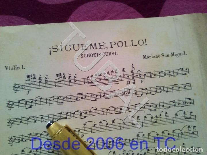 Partituras musicales: TUBAL SIGUEME POLLO MARIANO SAN MIGUEL PARTITURA ANTIGUA SCHOTIS CURSI CHOTIS P1 - Foto 2 - 178709602