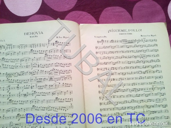 Partituras musicales: TUBAL SIGUEME POLLO MARIANO SAN MIGUEL PARTITURA ANTIGUA SCHOTIS CURSI CHOTIS P1 - Foto 3 - 178709602