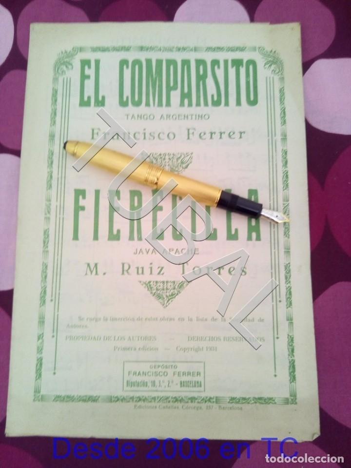 TUBAL EL COMPARSITO TANGO FRANCISCO FERRER PARTITURA ANTIGUA P1 (Música - Partituras Musicales Antiguas)
