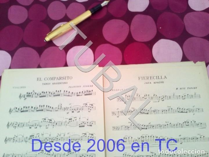 Partituras musicales: TUBAL EL COMPARSITO TANGO FRANCISCO FERRER PARTITURA ANTIGUA P1 - Foto 4 - 178711087