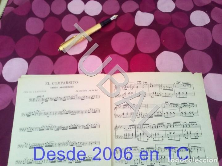 Partituras musicales: TUBAL EL COMPARSITO TANGO FRANCISCO FERRER PARTITURA ANTIGUA P1 - Foto 5 - 178711087