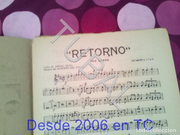 Partituras musicales: TUBAL RETORNO FOX ALFONSO DEL VALLE 1942 PARTITURA ANTIGUA P1 - Foto 2 - 178711411