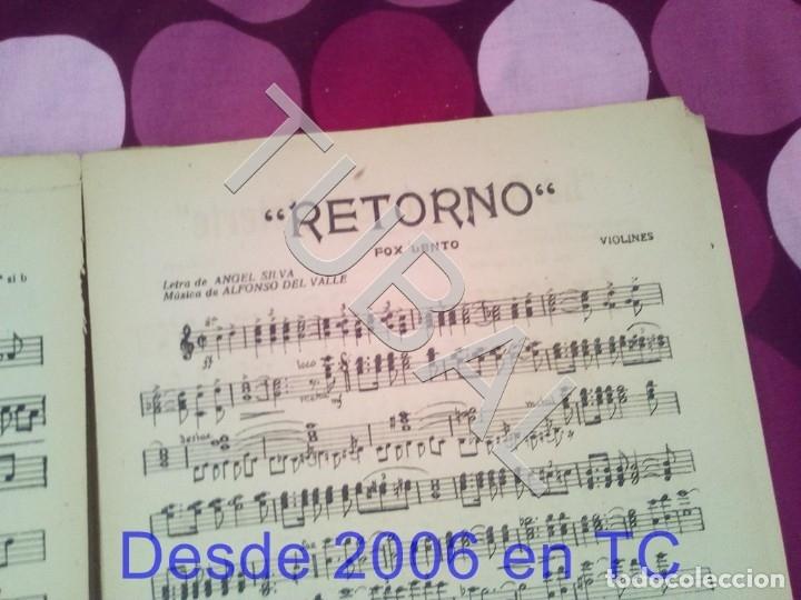 Partituras musicales: TUBAL RETORNO FOX ALFONSO DEL VALLE 1942 PARTITURA ANTIGUA P1 - Foto 4 - 178711411