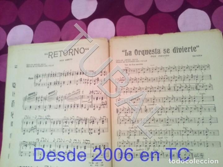 Partituras musicales: TUBAL RETORNO FOX ALFONSO DEL VALLE 1942 PARTITURA ANTIGUA P1 - Foto 7 - 178711411