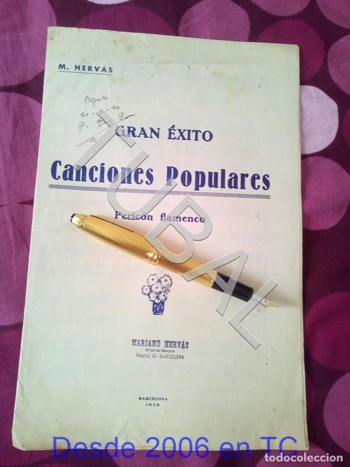 TUBAL CANCIONES POPULARES PERICON FLAMENCO 1934 PARTITURA ANTIGUA P1 (Música - Partituras Musicales Antiguas)