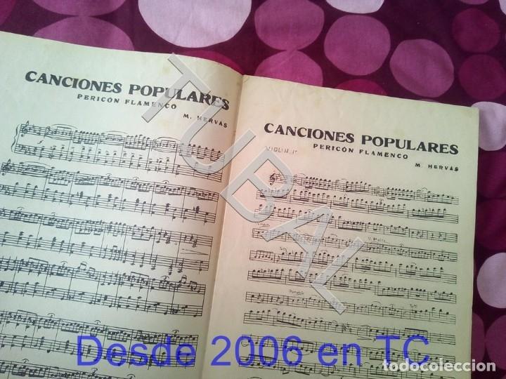 Partituras musicales: TUBAL CANCIONES POPULARES PERICON FLAMENCO 1934 PARTITURA ANTIGUA P1 - Foto 2 - 178712651