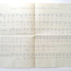 Partituras musicales: GOIGS A LLAOR DE LA MARE DE DEU DE CABRERA, ANY 1944, ESCRITO A MANO. SELLO DE CENSURA BISBAT VICH. Lote 178918190