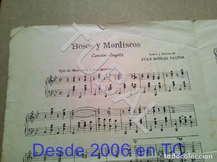 Partituras musicales: TUBAL ANTIGUA PARTITURA JUAN DOTRAS PASTOR BESOS Y MORDISCOS FOX TROT P1 - Foto 2 - 178919097