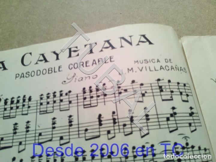 Partituras musicales: TUBAL ANTIGUA PARTITURA MANUEL Y J VILLACAÑAS LA CAYETANA PASODOBLE P1 - Foto 2 - 178919291