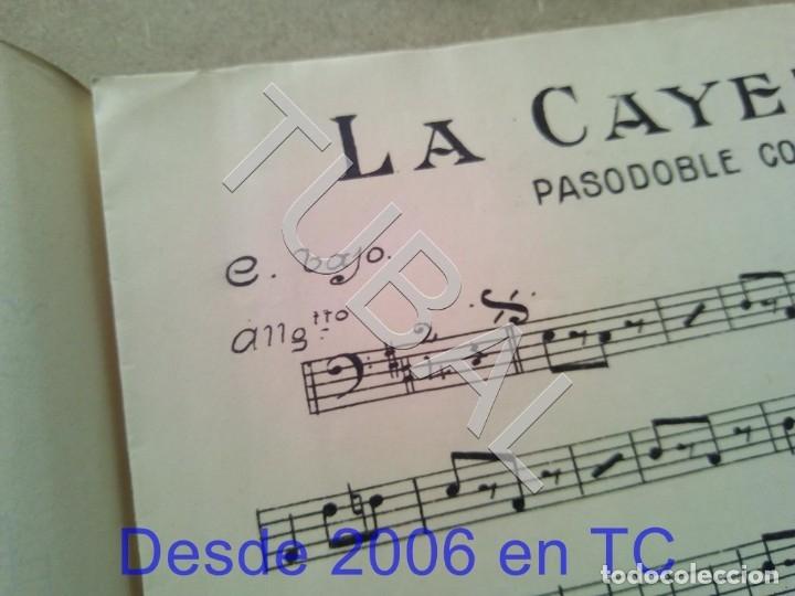 Partituras musicales: TUBAL ANTIGUA PARTITURA MANUEL Y J VILLACAÑAS LA CAYETANA PASODOBLE P1 - Foto 4 - 178919291