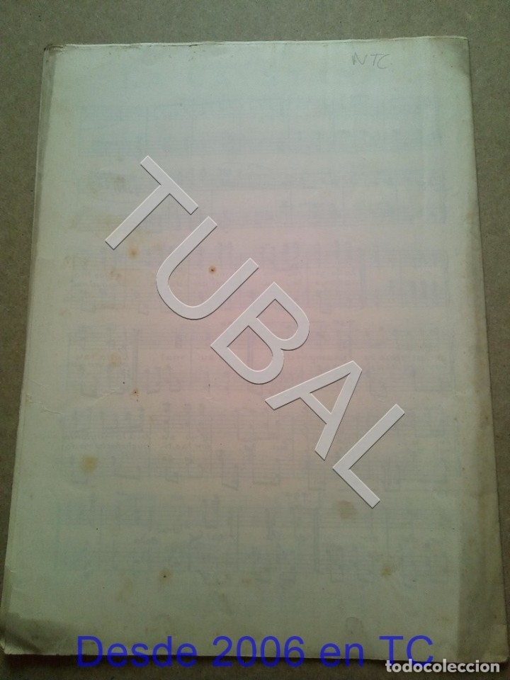 Partituras musicales: TUBAL ANTIGUA PARTITURA MANUEL Y J VILLACAÑAS LA CAYETANA PASODOBLE P1 - Foto 9 - 178919291