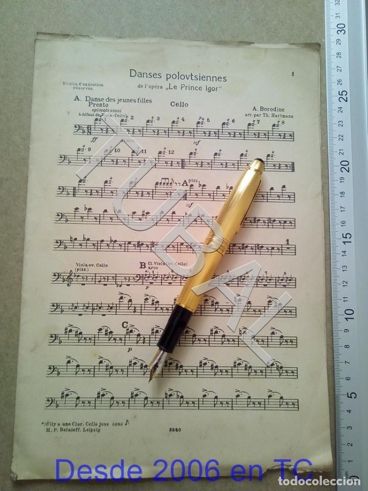 TUBAL ANTIGUA PARTITURA A BORODINE DANSES POLOVTSIENNES PRINCIPE IGOR P1 (Música - Partituras Musicales Antiguas)