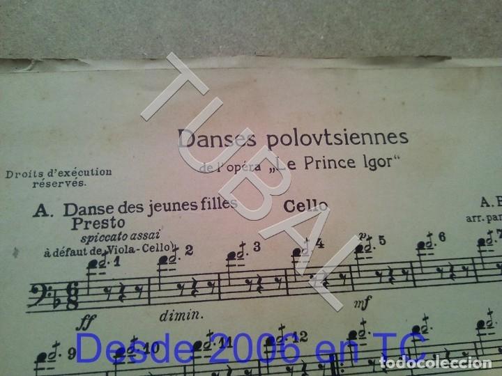 Partituras musicales: TUBAL ANTIGUA PARTITURA A BORODINE DANSES POLOVTSIENNES PRINCIPE IGOR P1 - Foto 2 - 178919417