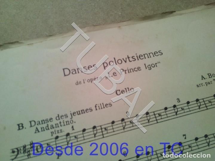 Partituras musicales: TUBAL ANTIGUA PARTITURA A BORODINE DANSES POLOVTSIENNES PRINCIPE IGOR P1 - Foto 4 - 178919417