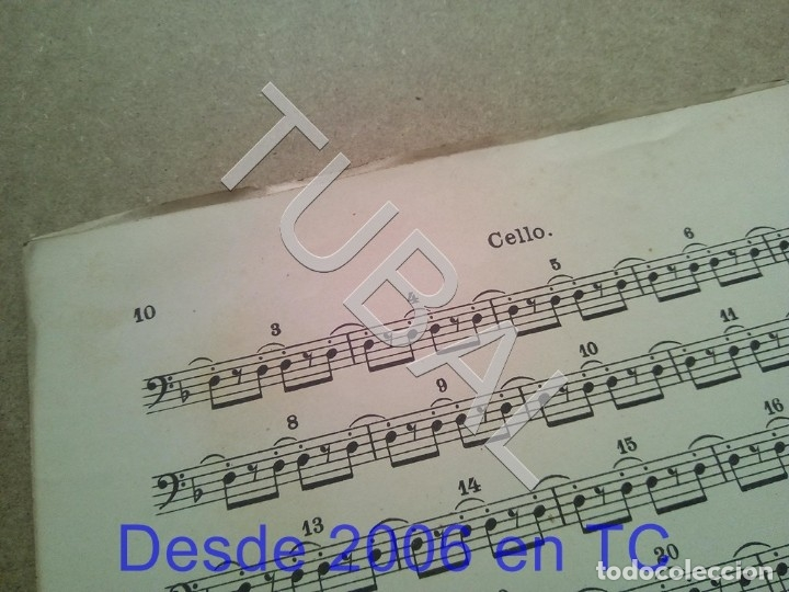 Partituras musicales: TUBAL ANTIGUA PARTITURA A BORODINE DANSES POLOVTSIENNES PRINCIPE IGOR P1 - Foto 12 - 178919417