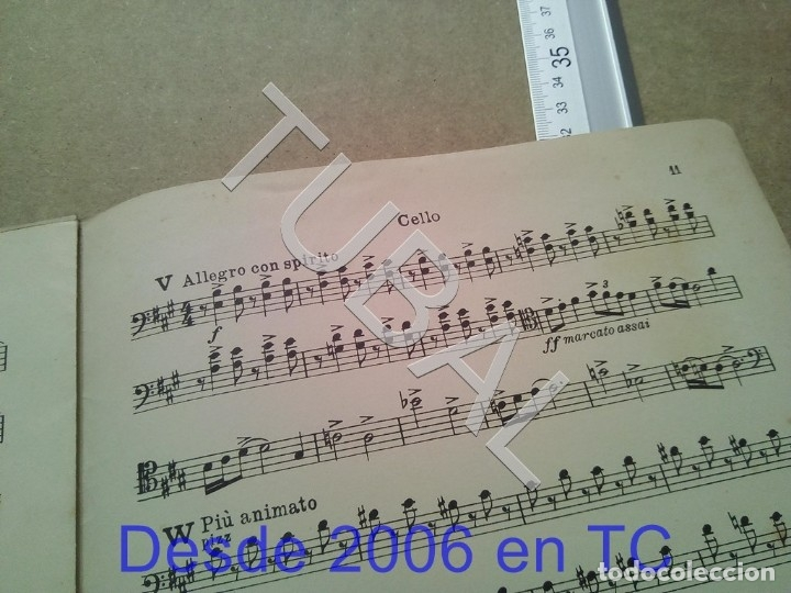 Partituras musicales: TUBAL ANTIGUA PARTITURA A BORODINE DANSES POLOVTSIENNES PRINCIPE IGOR P1 - Foto 13 - 178919417