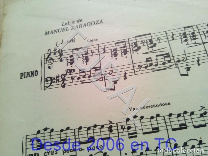 Partituras musicales: TUBAL ANTIGUA PARTITURA PEDRO CORDOBA YA LLEGA LA RONDA 1934 P1 - Foto 2 - 178919486