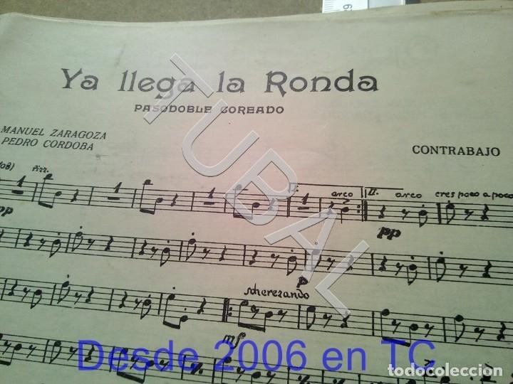 Partituras musicales: TUBAL ANTIGUA PARTITURA PEDRO CORDOBA YA LLEGA LA RONDA 1934 P1 - Foto 3 - 178919486