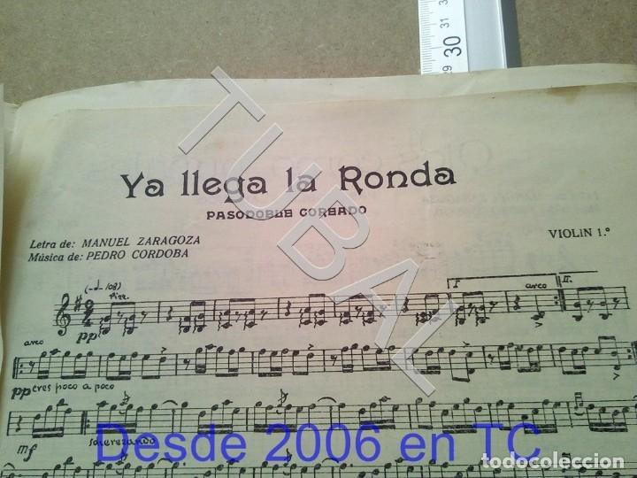 Partituras musicales: TUBAL ANTIGUA PARTITURA PEDRO CORDOBA YA LLEGA LA RONDA 1934 P1 - Foto 7 - 178919486