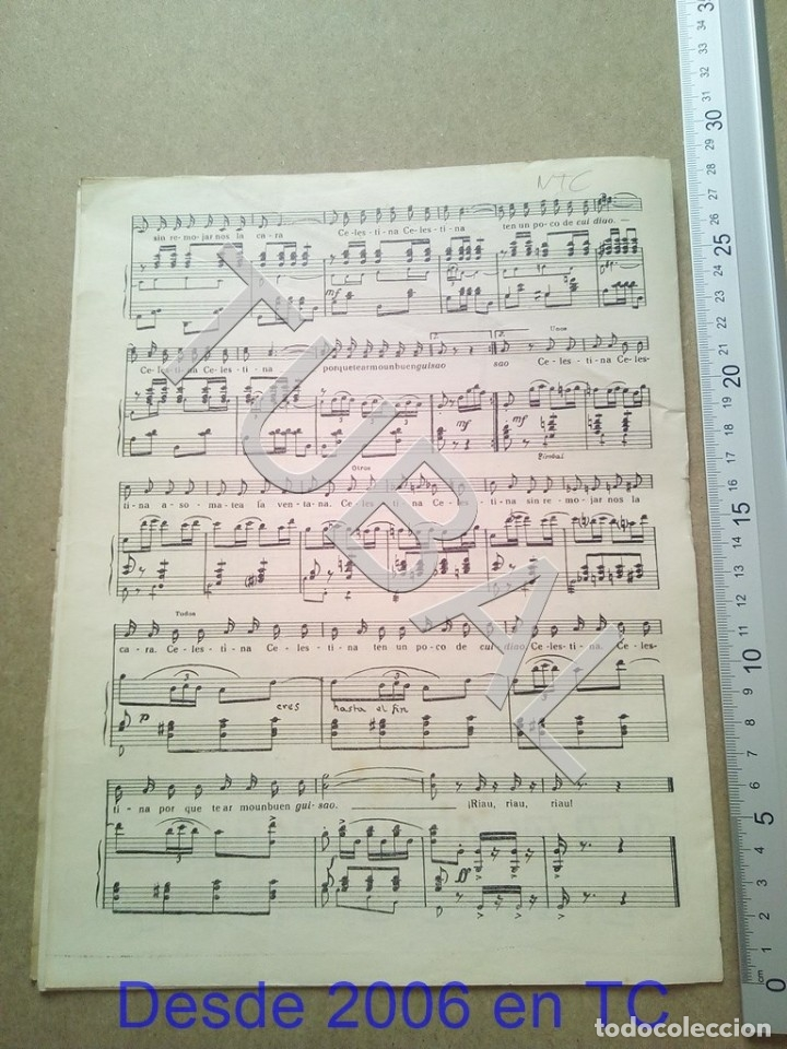 Partituras musicales: TUBAL ANTIGUA PARTITURA PEDRO CORDOBA YA LLEGA LA RONDA 1934 P1 - Foto 10 - 178919486