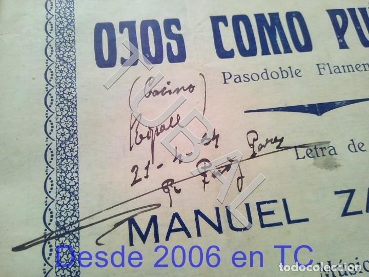 Partituras musicales: TUBAL ANTIGUA PARTITURA PEDRO CORDOBA OJOS COMO PUÑALES 1934 P1 - Foto 2 - 178919515