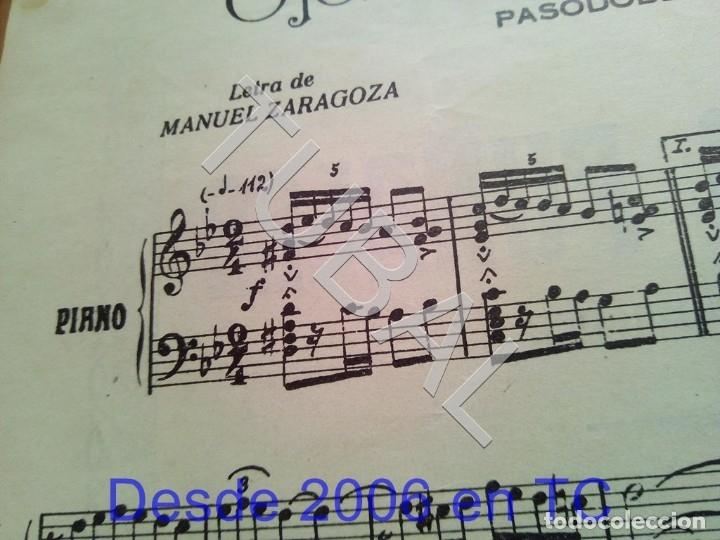 Partituras musicales: TUBAL ANTIGUA PARTITURA PEDRO CORDOBA OJOS COMO PUÑALES 1934 P1 - Foto 3 - 178919515