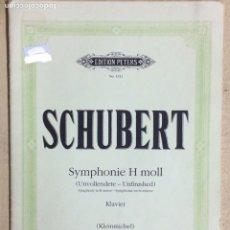 Partituras musicales: PARTITURA SCHUBERT, SYMPHONIE H MOLL, (UNVOLLENDETE- UNFINISHED) . Lote 179054473