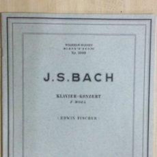Partituras musicales: PARTITURA JS. BACH, KLAVIER-KONCERT F MOLL,. Lote 179065262
