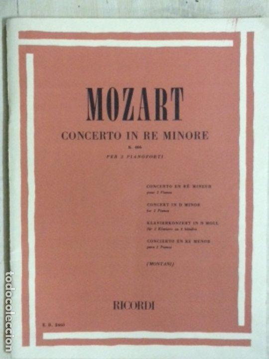 PARTITURA MOZART, CONCERTO IN RE MINORE K.466, EDITORIAL RICORDI (Música - Partituras Musicales Antiguas)