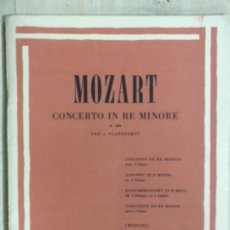 Partituras musicales: PARTITURA MOZART, CONCERTO IN RE MINORE K.466, EDITORIAL RICORDI. Lote 179065928