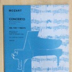 Partituras musicales: PARTITURA MOZART, CONCIERTO EN MI BEMOL MAYOR, K NR.271. Lote 179066920