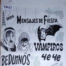 Partituras musicales: 25451 - PARTITURAS - 2 CANCIONES - BEDUINOS Y VAMPIROS YE YE - REPERTORIO DE J.N. VILARIO. Lote 179126636