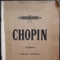 Partituras musicales: PARTITURA N°35 CHOPIN VALSES EDICION COMPLETA. Lote 179145846