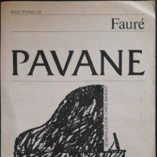 Partituras musicales: PARTITURA N°19 PIANO FÁCIL FAURE. Lote 179149731