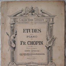 Partituras musicales: PARTITURA ETUDES PARA PIANO CHOPIN. Lote 179151551
