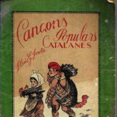 Partituras musicales: CANÇONS POPULARS CATALANES - LLUIS G. JORDÀ - BOILEAU. Lote 179156220