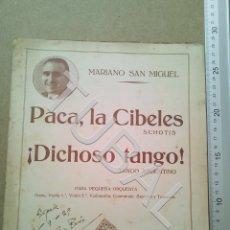 Partituras musicales: TUBAL PARTITURA PACA LA CIBELES CHOTIS MARIANO SAN MIGUEL 1929 P1. Lote 179171948