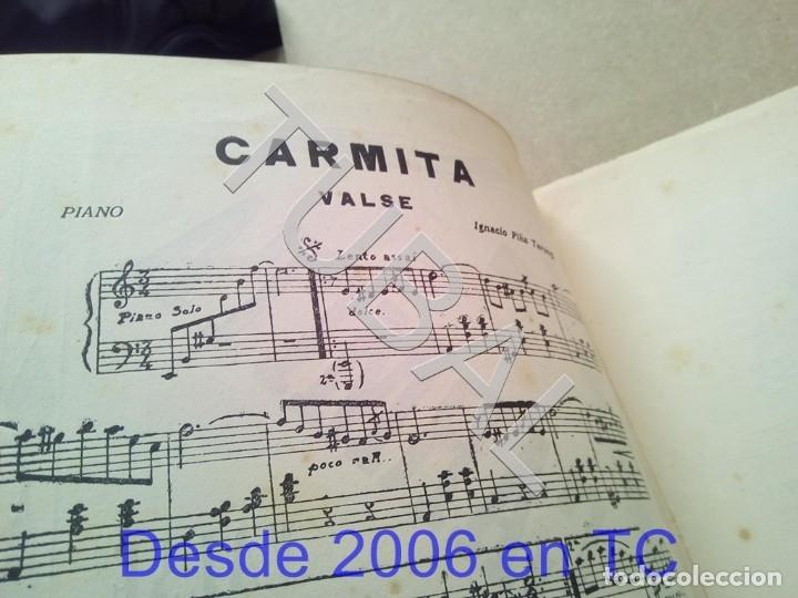 Partituras musicales: TUBAL PARTITURA ANTIGUA IGNACIO PIÑA TARONGI CARMITA VALS 1931 P1 - Foto 4 - 179172806