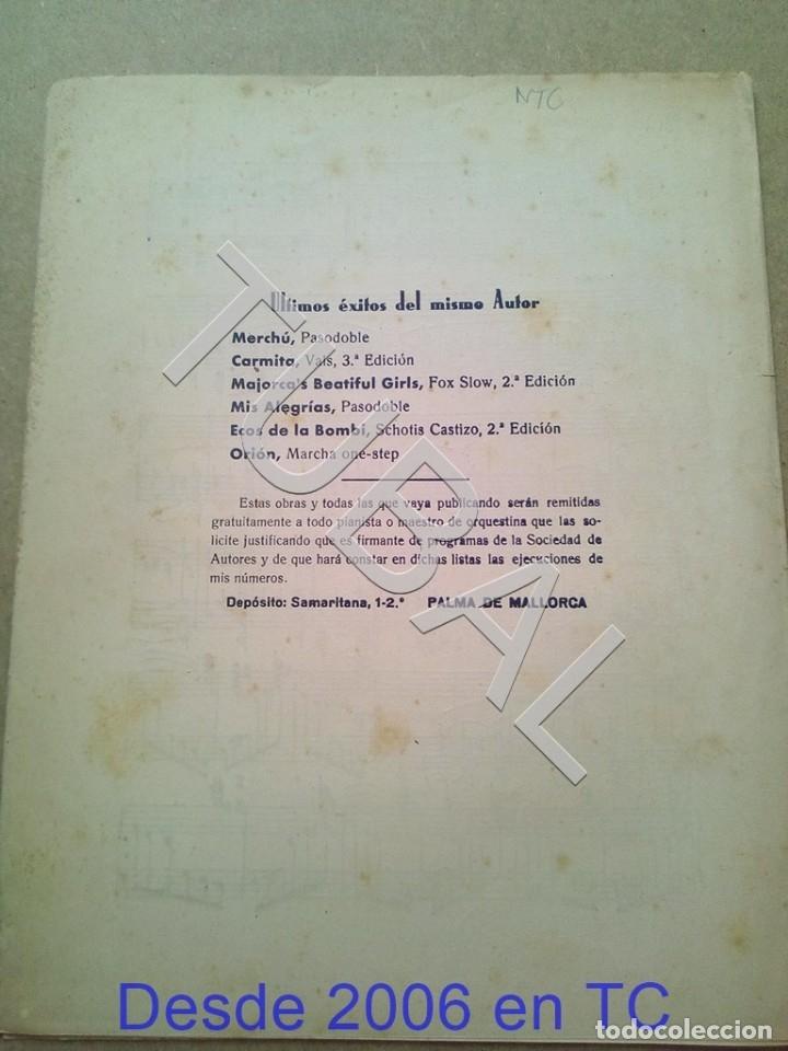 Partituras musicales: TUBAL PARTITURA ANTIGUA IGNACIO PIÑA TARONGI CARMITA VALS 1931 P1 - Foto 5 - 179172806