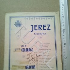 Partituras musicales: TUBAL PARTITURA ANTIGUA IJEREZ PASODOBLE GRAVINA 1929 P1. Lote 179172951